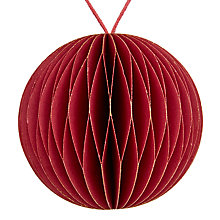 Buy John Lewis Highland Myths Honeycomb Paper Bauble, Red Online at johnlewis.com
