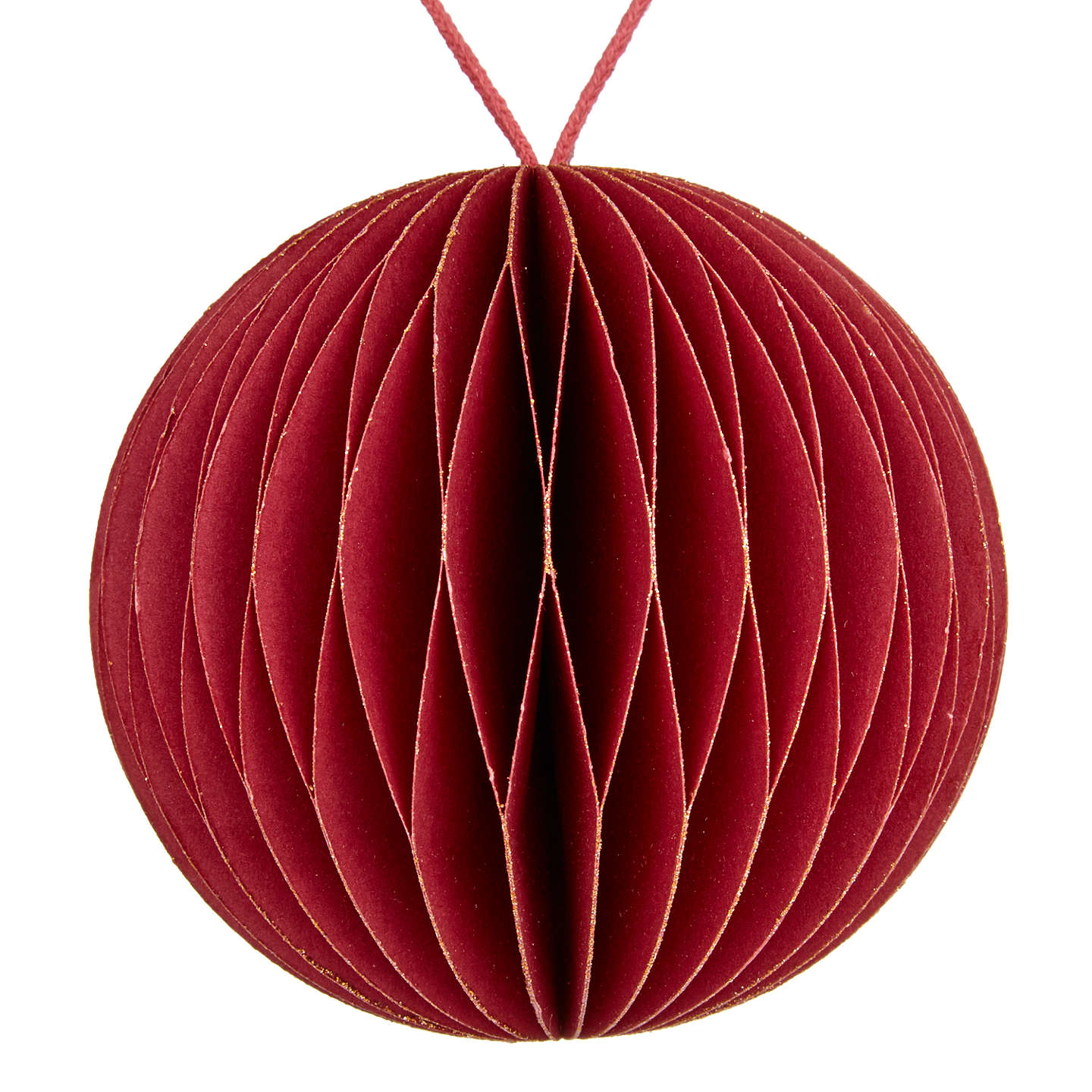 Buyvivid Highland Myths Honeycomb Paper Bauble, Red Online At Johnlewiscom