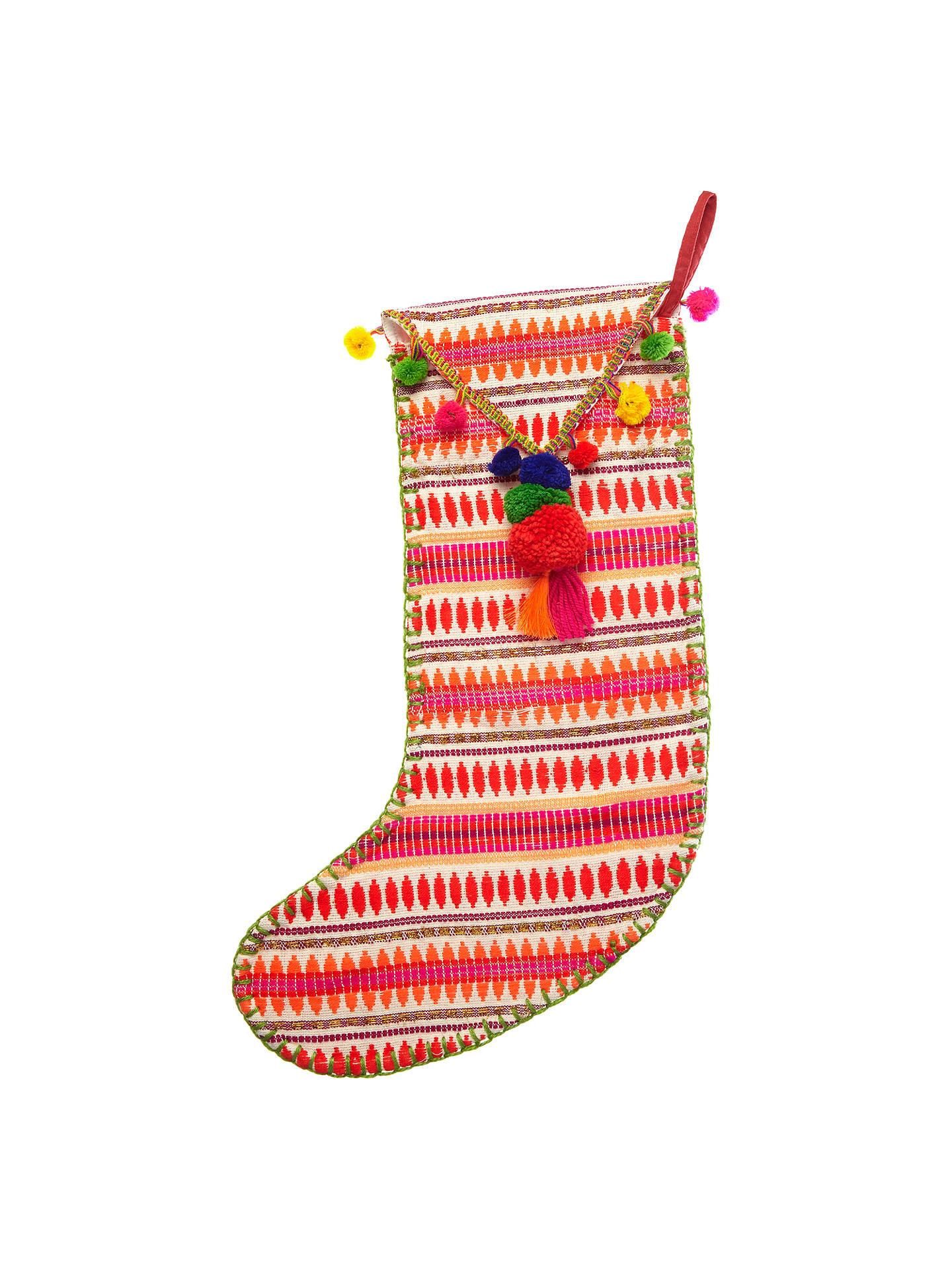 Llama Christmas Stocking.Vivid Lima Llama Tapestry Pom Pom Stocking Multi At John