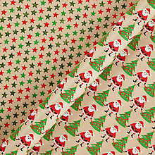 Buy Vivid Lima Llama Stetson Santa/Star Gift Wrap, W70cm x L100cm Sheet, Pack of 2 Online at johnlewis.com