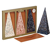 Buy John Lewis Highland Myths Triple Slim Trees Charity Christmas Cards, Pack of 24 Online at johnlewis.com