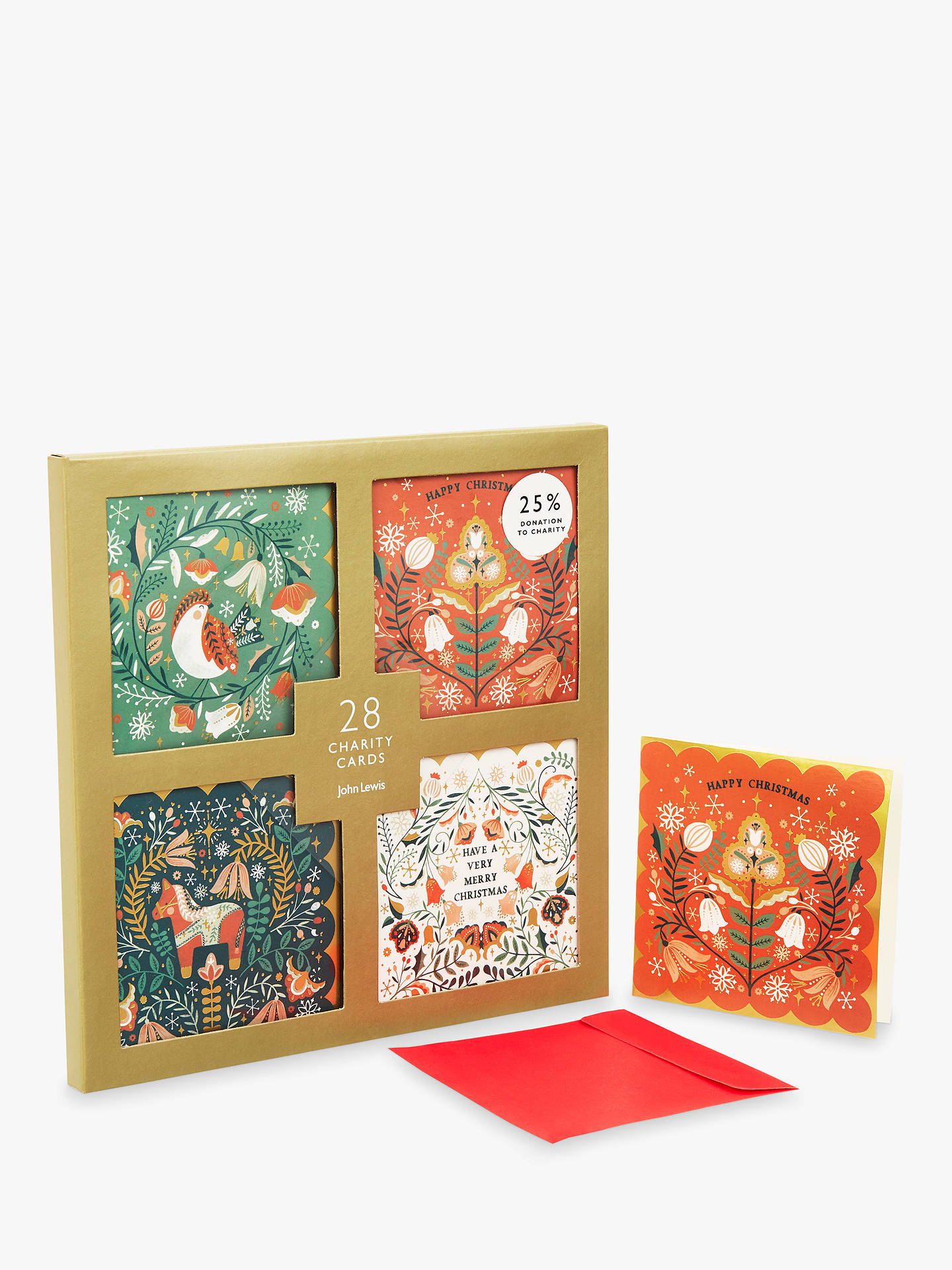 buyjohn lewis folklore fancy charity christmas card pack of 28 online at johnlewiscom - Fancy Christmas Cards