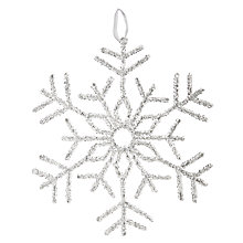 Buy John Lewis Winter Palace Acrylic Snowflake Hanging Decoration Online at johnlewis.com