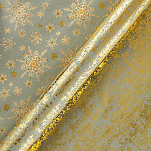 Buy Vivid Winter Palace Snowflake/Gold on Gunmetal Crush, W70cm x L100cm Sheet, Pack of 2 Online at johnlewis.com