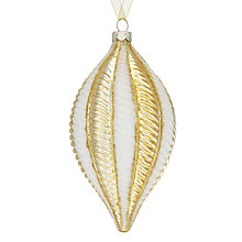 Buy John Lewis Winter Palace Pleated Finial, White / Gold Online at johnlewis.com
