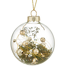 Buy John Lewis Into the Woods Clear Moss Filled Bauble Online at johnlewis.com