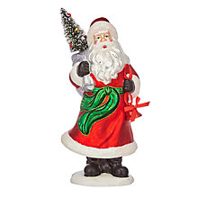 Buy John Lewis Jolly Santa Glass Tabletop Decoration Online at johnlewis.com