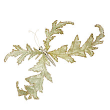 Buy John Lewis Into the Woods Oak Leaf Butterfly Clip On Tree Decoration Online at johnlewis.com