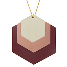 Buy John Lewis Mitsuko Layered Hexagon Tree Decoration, Ruby Online at johnlewis.com