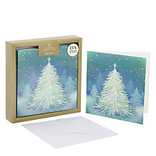 Buy John Lewis Magical Tree Premium Charity Christmas Card, Pack of 6 Online at johnlewis.com