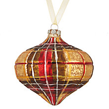 Buy John Lewis Highland Myths Tartan Onion Bauble Online at johnlewis.com