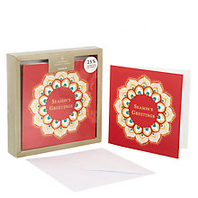Buy John Lewis Tales of the Mahraja Wreath Premium Charity Christmas Card, Pack of 6 Online at johnlewis.com