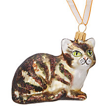 Buy John Lewis Into the Woods Tabby Cat Bauble Online at johnlewis.com