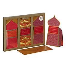 Buy John Lewis Tales of the Maharaja Triple Slim Windows Charity Christmas Cards, Pack of 24 Online at johnlewis.com