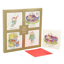 Buy John Lewis Comedy Cartoon Charity Christmas Card, Pack of 28 Online at johnlewis.com