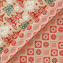 Buy Vivid Folklore Damask/Diamond Knit Gift Wrap, W70cm x L100cm Sheet, Pack of 2 Online at johnlewis.com