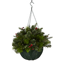 Buy John Lewis Balmoral Berry Hanging Basket Decoration Online at johnlewis.com