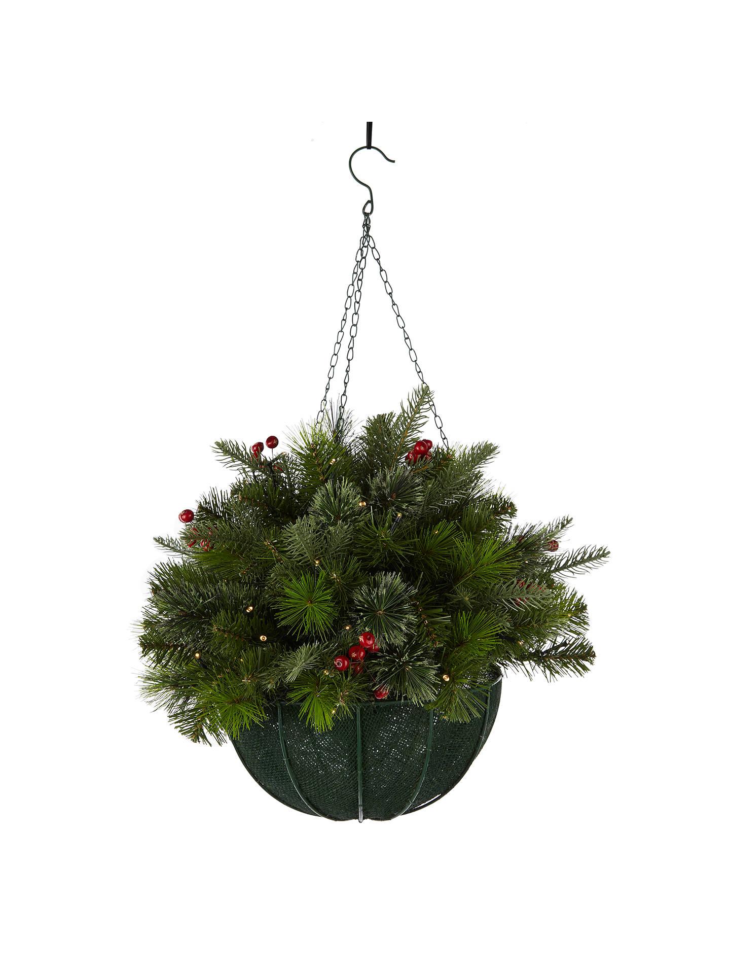 Christmas Hanging Baskets.John Lewis Balmoral Berry Hanging Basket Decoration At John