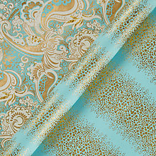 Buy Vivid Winter Palace Neru Paisley/Glitter Bubbles Gift Wrap, W70cm x L100cm Sheet, Pack of 2 Online at johnlewis.com