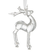 Buy John Lewis Highland Myths Acrylic Reindeer Tree Decoration Online at johnlewis.com
