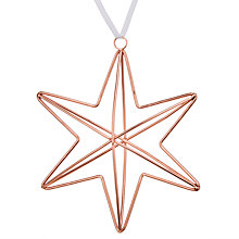 Buy John Lewis Mitsuko Copper Wire Star Tree Decoration Online at johnlewis.com