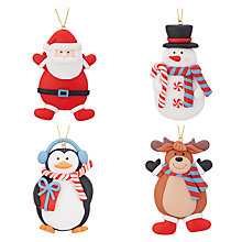 Buy John Lewis Lima Llama Claydough Christmas Characters, Pack of 4 Online at johnlewis.com