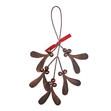 Buy John Lewis Highland Myths Mistletoe Tree Decoration. Bronze Online at johnlewis.com