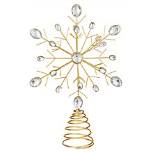 Buy John Lewis Winter Palace Crystal Snowflake Tree Topper, Silver Online at johnlewis.com