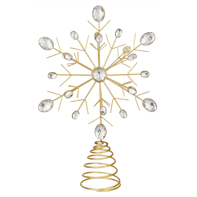 Buyjohn Lewis Winter Palace Crystal Snowflake Tree Topper, Silver Online