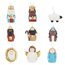 Buy John Lewis Claydough Nativity Tree Decoration Set Online at johnlewis.com