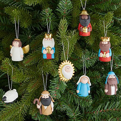 ... Buy John Lewis Claydough Nativity Tree Decoration Set Online At  Johnlewis.com ...
