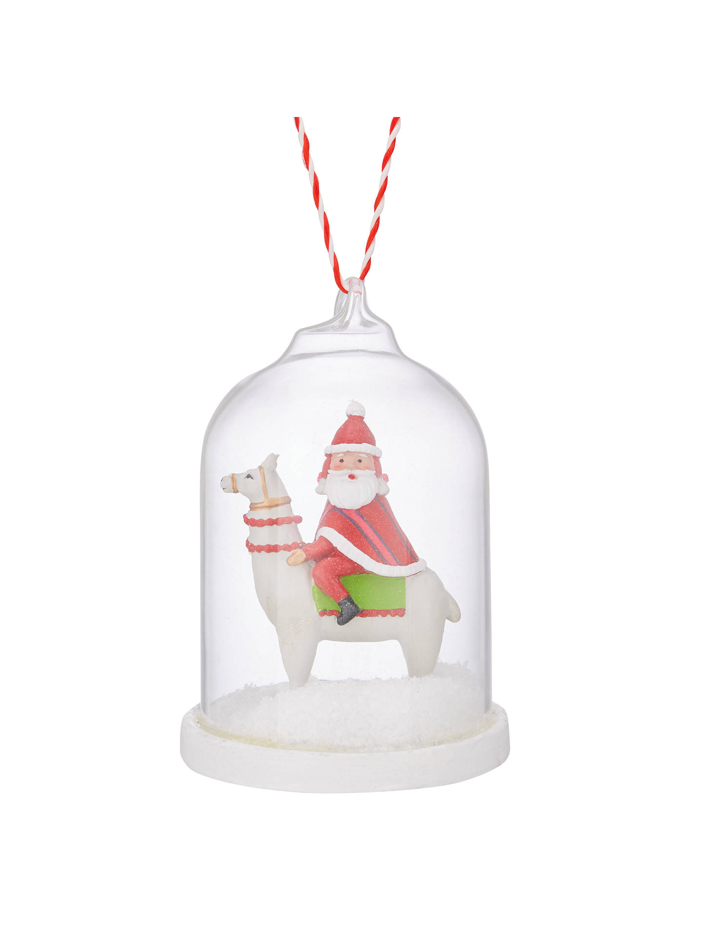 buyjohn lewis lima llama santa on a llama tree decoration online at johnlewiscom