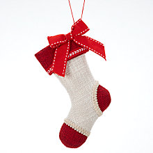 Buy John Lewis Folklore Mini Stocking Tree Decoration Online at johnlewis.com