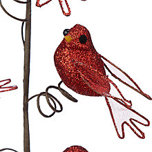 Buy John Lewis Tales of the Maharaja Glitter Bird Pick, Red Online at johnlewis.com