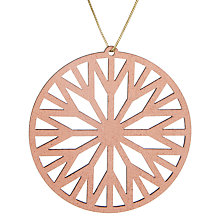 Buy John Lewis Mitsuko Wheel Tree Decoration, Copper Online at johnlewis.com