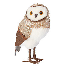 Buy John Lewis Highland Myths Festive Owl Decoration, Small Online at johnlewis.com
