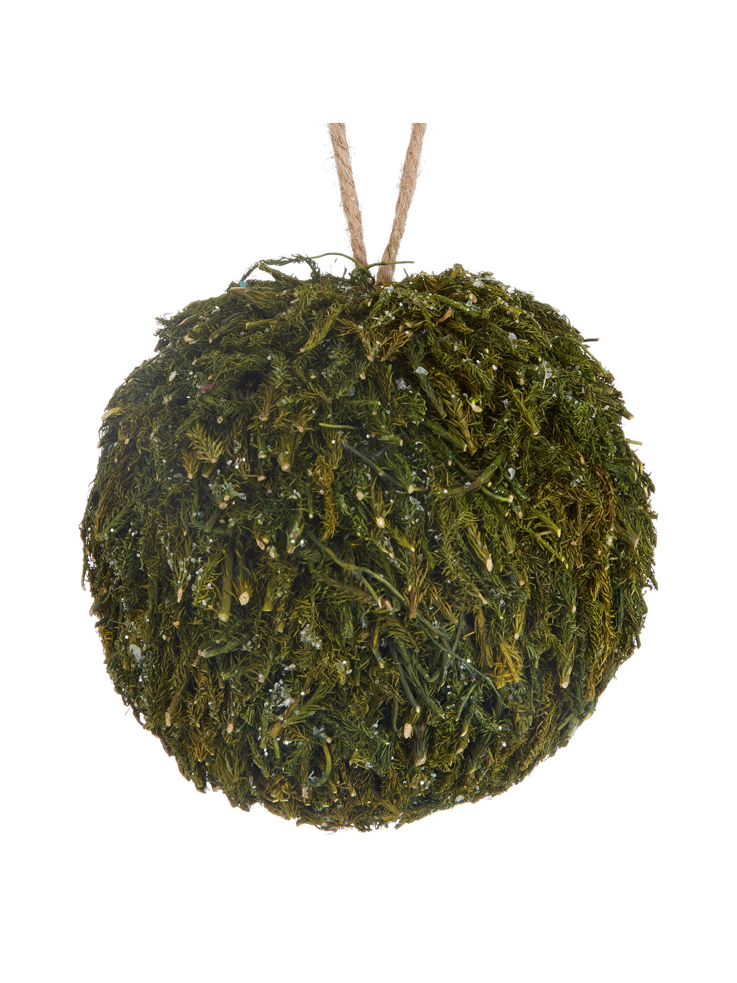 BuyJohn Lewis Into the Woods Mossy Ball Bauble Online at johnlewis.com
