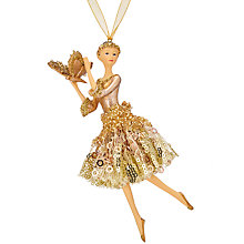 Buy John Lewis Into the Woods Golden Ballerina Tree Decoration Online at johnlewis.com