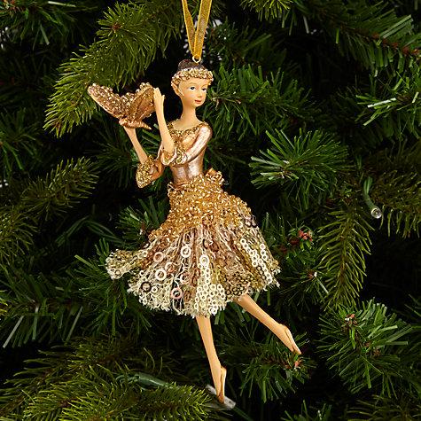 Buy john lewis into the woods golden ballerina tree for Ballerina tree decoration