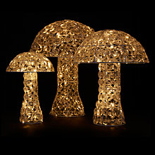 Buy John Lewis LED Acrylic Crystal Mushroom, Set of 3 Online at johnlewis.com