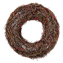 Buy John Lewis Glittered Twig Wreath, Dia.48cm Online at johnlewis.com