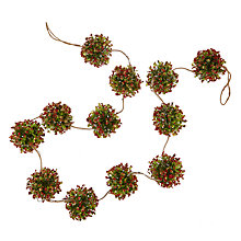 Buy John Lewis Berry Ball Garland with Lights,L182cm, Green/Red Online at johnlewis.com