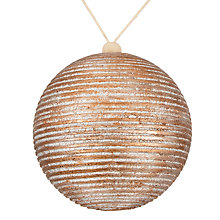 Buy John Lewis Highland Myths Bronze Stripe Bauble, Large Online at johnlewis.com