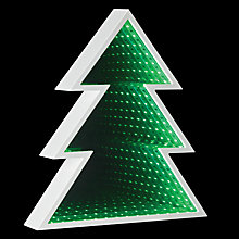 Buy John Lewis LED Tree Infinity Christmas Mirror Light Online at johnlewis.com