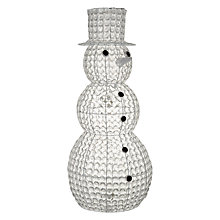 Buy John Lewis Freddy Snowman Glitter Ball Figure Online at johnlewis.com
