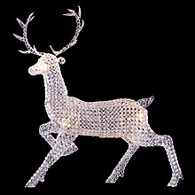 Buy John Lewis Stag Glitter Ball Figure Online at johnlewis.com