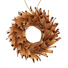 Buy John Lewis Highland Myths Feather Wreath Tree Decoration Online at johnlewis.com