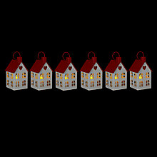 Buy John Lewis Remote Controlled LED Metal House Tealights, Set of 6 Online at johnlewis.com
