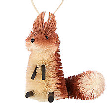 Buy John Lewis Highland Myths Hamish Fox Tree Decoration Online at johnlewis.com
