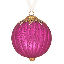 Buy John Lewis Tales of the Maharaja Mercurised Bauble Online at johnlewis.com